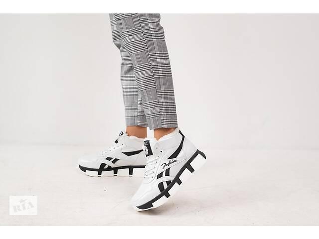 бу Женские кроссовки кожаные зимние белые-черные CrosSAV 50 Classic Leather Pearl в Хмельницком