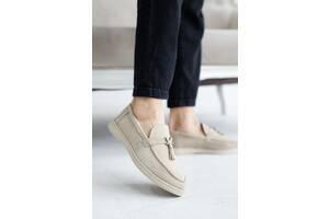 Женские туфли замшевые весна/осень бежевые Multi-shoes Piano