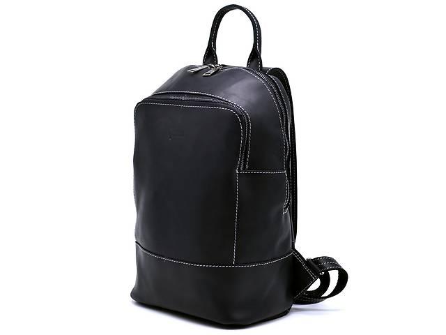 продам Женский черный кожаный рюкзак TARWA  среднего размера TRWRA-2008-3md бу в Киеве