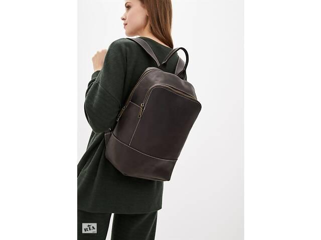 купить бу Женский коричневый кожаный рюкзак TARWA  среднего размера TRWRC-2008-3md в Киеве