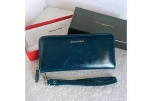 Женский кожаный кошелёк портмоне клатч 4 цвета