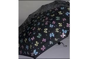 """Зонт полный автомат с проявляющимся рисунком женский Magic Rain """"Бантики"""""""