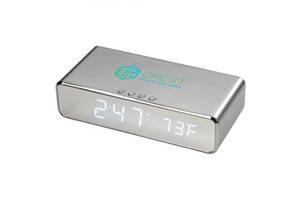 Беспроводное зарядное устройство Keen Wireless Charging Desk Clock Silver
