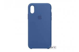 Чехол для Apple iPhone XS Silicone Case Delft Blue Copy
