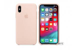 Чехол для Apple iPhone XS Silicone Case Pink Sand Copy