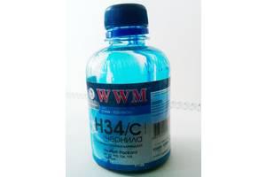 Чорнило WWM H34 Cyan 200г для HP (H34/C) водорозчинні