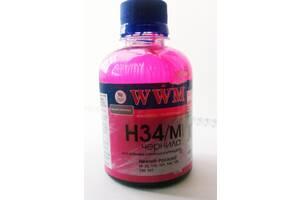 Чорнило WWM H34 Magenta 200г для HP (H34/М) водорозчинні