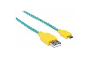 Дата кабель USB 2.0 AM to Micro 5P 1.8m Manhattan (352703)