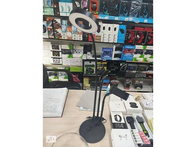 купить бу Держатель для телефона с кольцевой LED подсветкой Professional Live Stream, селфи кольцо для блогера в Одессе