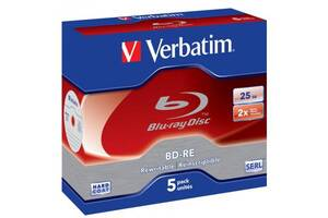 Диск BD Verbatim 25Gb 2x Jewel 5шт Hard Coat (43615)