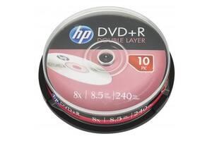 Диск DVD HP DVD+R 8.5GB 8X DL 10шт Spindle (69309)