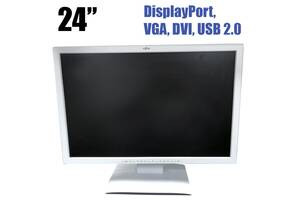"Монитор Fujitsu B24w-6 / 24"" (1920x1200) TFT TN / USB 2.0, DVI-D, DisplayPort, VGA, Audio / Встроенные колонки"