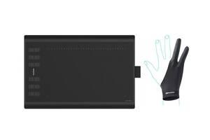 """Графический планшет Huion H1060P 10"""" х 6.25"""" + фирменная перчатка Huion Черный (H1060P)"""