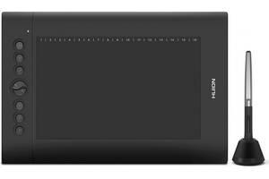 """Графический планшет Huion H610Pro V2 + перчатка 10"""" х 6.25"""" Черный (H610Pro V2)"""