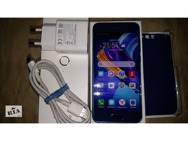 купить бу Huawei Honor 9 4/64Gb Sapphire Blue STF-L09 Чехол Зарядное Коробка в Запорожье