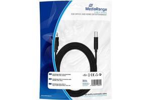 Кабель для принтера USB 2.0 AM/BM 5.0m MediaRange (MRCS102)