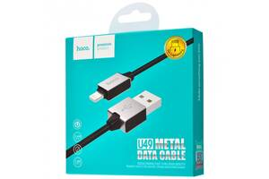Кабель Hoco U49 Refined steel Lightning Cable(1.2m) Black,White