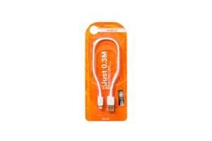 Кабель (провод) для зарядки смартфона/телефона USB MOXOM CC 50 Apple 30 см Белый