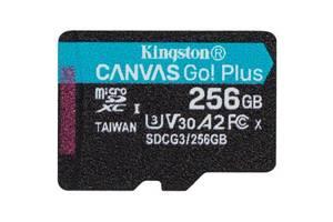Карта памяти Kingston 256GB microSDXC class 10 A2 U3 V30 Canvas Go Plus (SDCG3/256GBSP)