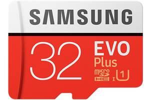 Карта памяти на 32 GB Samsung EVO Plus microSD C10 UHS-I%5b%5d SmsngMB-MC32GA/RU