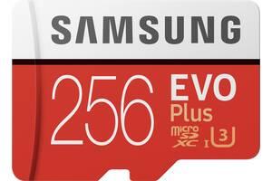 Карта памяти Samsung EVO Plus microSDXC 256GB UHS-I Class 10 (MB-MC256HA/RU) + SD адаптер (6582880)