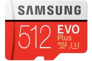 Карта памяти Samsung EVO Plus microSDXC 512GB UHS-I Class 10 (MB-MC512HA/RU) + SD адаптер (6606932)