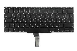 Клавиатура для ноутбука APPLE (MacBook Air: A1370, A1465 (2011-2015)) rus, black, SMALL Enter