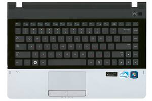 Клавиатура для ноутбука Samsung 300E4A, NP300E4A, 300V3A, 300E4A, 300V4A Black, с топ панелью (Black), RU