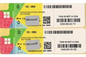 Лицензионные наклейки Microsoft Windows 10 Professional 64-bit RUS OEM-версия (FQC-08909)