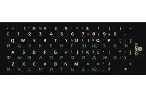 Наклейка на клавиатуру XoKo 48 клавиш Украинский / Английский / Русский (XK-KB-STCK-SM)