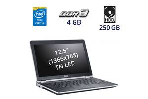 """Нетбук Dell Latitude E6220 / 12.5"""" (1366x768) TN LED / Intel Core i5-2520M (2 (4) ядра по 2.5 - 3.2 GHz) / 4 GB DDR3..."""