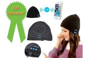 Портативна колонка-шапка з bluetooth навушниками SPS Hat BT True.