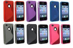 S LINE TPU Цвета Силиконовый Чехол IPhone 4 4S 5 5s SE 6 6s