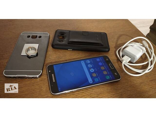 купить бу Смартфон Samsung Galaxy J7 2016 + 2 чехла в подарок / 5.5 * 2/16 Гб * 8 ядер в Виннице