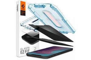 Стекло защитное Spigen iPhone 12 Pro Max Glas tR EZ Fit (Privacy) (2Pack) (AGL01793)