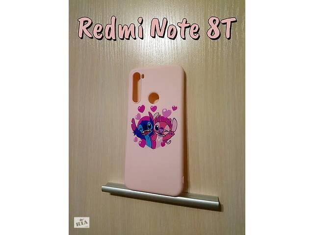 бу Силиконовый чехол с принтом Redmi Note 8T Розовый в Кролевце