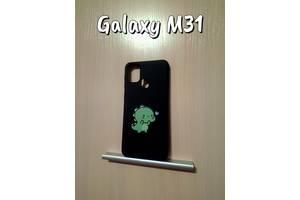 Силиконовый чехол с принтом Samsung Galaxy M31 Черный