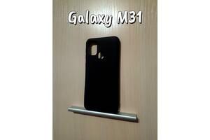 Силиконовый чехол Samsung Galaxy M31 черный