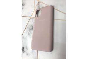 Силиконовый чехол Silicone Case для Samsung Galaxy M51 Коричневый