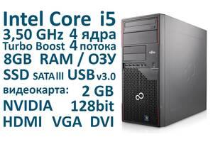 Системный блок 8 ГБ ОЗУ, Intel Core i5 4 ядра 3,50 GHz, SSD,