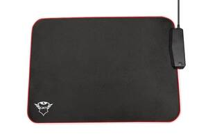TRUST GXT 765 Glide-Flex RGB Mouse Pad with USB Hub Black (23646)