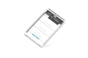 "Vention Внешний карман Vention USB3.1 Type-C для HDD/SSD 2.5"" SATA, White (KDGW0)"