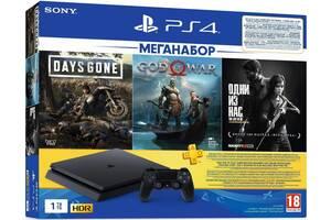 Игровая консоль Sony PlayStation 4 1ТВ (DG+GOW+TLOU) + PS Plus