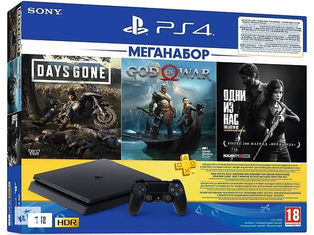 купить бу Игровая консоль Sony PlayStation 4 1ТВ (DG+GOW+TLOU) + PS Plus в Киеве