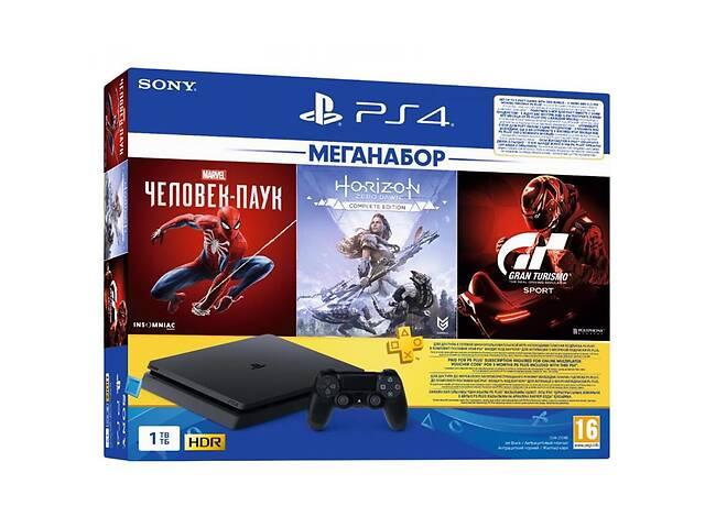 купить бу Игровая консоль SONY PlayStation 4 1ТВ в комплекте с 3 играми (9391401) в Киеве