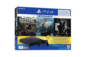 Игровая приставка SONY PlayStation 4 Slim 1Tb (Days Gone + God Of War + The Last of Us + PSPlus 3M) (9382102)