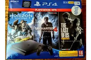 Игровая приставка SONY PS4 1ТВ + 6 игр и подпиской PS Plus 14 дн.