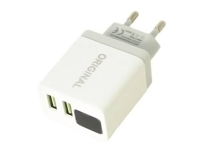 продам Зарядное устройство адаптер Kronos 220В CX QC03 5740 с 2 USB и LED дисплеем (gr_010276) бу в Киеве