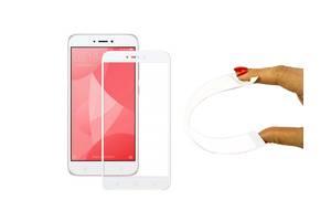 Защитное 5D cтекло Nano Flexible GLASS ITOP для Xiaomi Redmi 4X Full Cover Белый