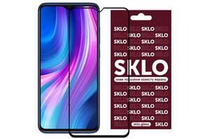 Защитное стекло SKLO 3D (full glue) для Xiaomi Redmi Note 8 Pro